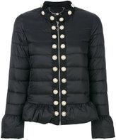 Twin-Set pearl studded cropped jacket - women - Polyamide/Polyester - 38