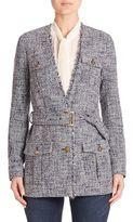 MICHAEL Michael Kors Belted Tweed Jacket