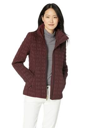 Anne Klein Women's Zip Front Quilted Jacket with Zipper Pockets