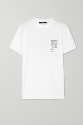Ellery Printed Cotton-jersey T-shirt - White