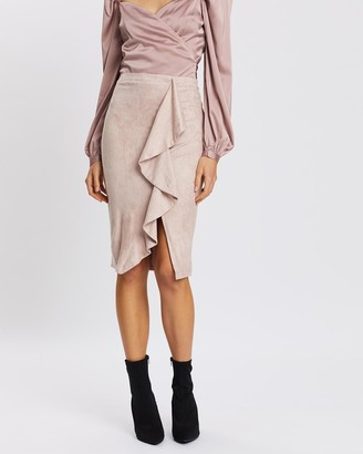 Fresh Soul - Women's Neutrals Midi Skirts - Fountain Skirt - Size One Size, 16 at The Iconic