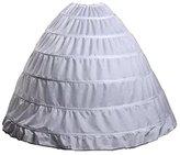 Ondine8 Women's 6 Hoops Wedding Petticoat/underskirt/crinoline