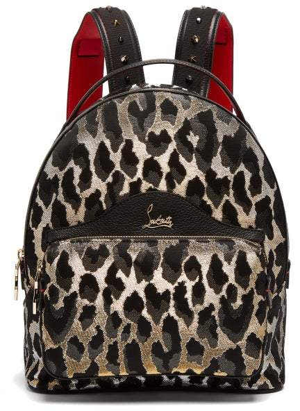 d212c007bfc Backloubi Small Leopard Brocade Backpack - Womens - Leopard