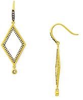 Freida Rothman Pave Triangle Drop Earrings