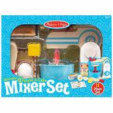 Melissa & Doug 10-Pc. Play Wooden Make A Cake Mixer Set Food