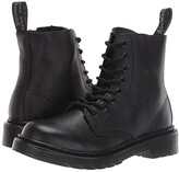 Dr. Martens Kid's Collection 1460 Pascal Mono Boot (Little Kid/Big Kid) (Black Virginia) Kids Shoes