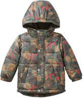Joe Fresh Baby Boys' Leaf Print Puffer Jacket, Dark Olive (Size 12-18)
