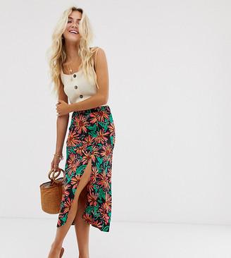 Wednesday's Girl midi skirt in tropical floral-Multi