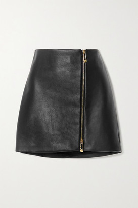 Versace Leather Mini Skirt - Black