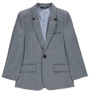 George Chambray Grey Suit Jacket