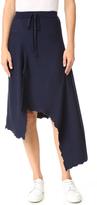 Marques Almeida Panelled Asymmetrical Midi Skirt