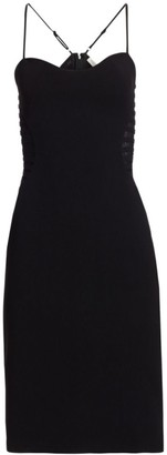 Halston Sleeveless Sweetheart Croset Dress