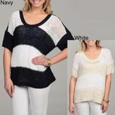 CK Calvin Klein CALVIN KLEIN Jeans Women's Stripe Sweater Top