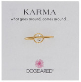 Dogeared 14K Gold Plated Sterling Silver Sparkle Karma Circle Ring