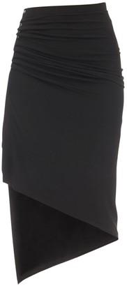 Paco Rabanne Asymmetric Light Jersey Midi Skirt