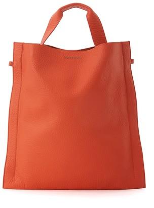 Orciani Orange Tumbled Leather Bag
