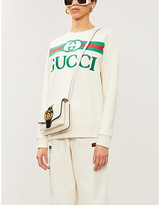 Gucci Logo-embroidered cotton-jersey sweatshirt