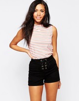 B.young Sleeveless Striped Tank Top