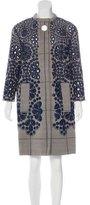 Louis Vuitton Floral Eyelet Coat