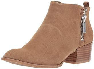 Kenneth Cole New York Women's Addy Western Bootie Double Zip Low Heel Suede Ankle
