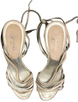 Chanel Beige Leather Sandals