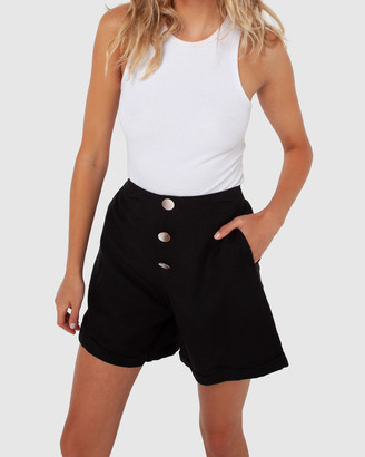 Madison The Label - Women's Black High-Waisted - Charlotte Shorts - Size One Size, 6 at The Iconic