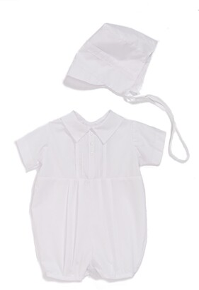 Little Things Mean a Lot Christening Romper & Hat Set