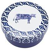 "Kitchen Craft Master Class Artesà Porcelain 'Cow' Brie and Camembert Baker, 13 x 5 cm (5"" x 2"") - Blue Rim"