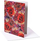 Matthew Williamson Pack of 6 Precious Rose Print Greeting Cards