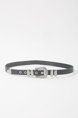 Forever 21 Etched Faux Leather Belt