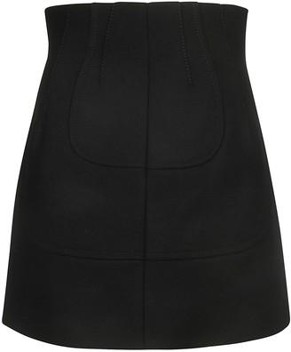 N°21 N.21 Back-zipped Mini Skirt