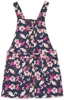 Juicy Couture Flamingo Printed Denim Pinafore