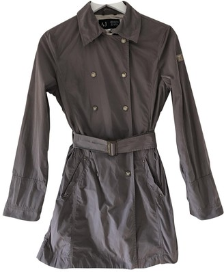 Armani Jeans Grey Trench Coat for Women