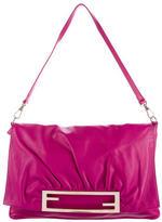 Fendi Pleated Leather Shoulder Bag
