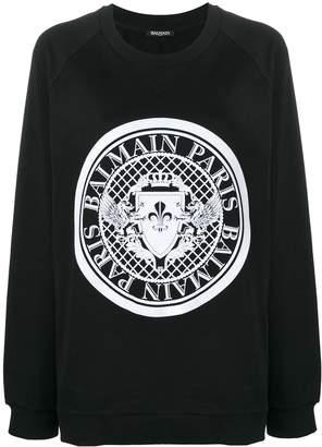 Balmain Logo Stamp Sweatshirt
