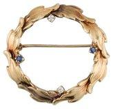 Diamond & Sapphire Wreath Brooch