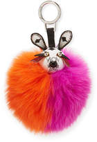 MCM Rabbit Fur Punk Charm for Handbag