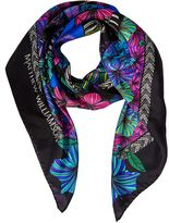 Matthew Williamson Kantuta Valley Blue Silk Square Scarf