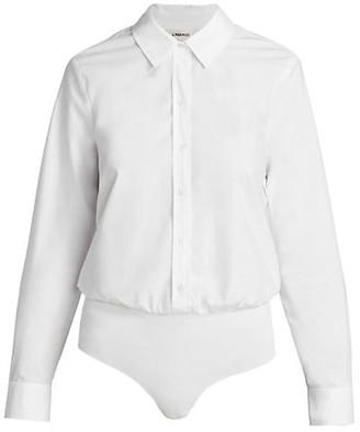 L'Agence Blake Button-Down Bodysuit