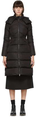 Moncler Black Down Belted Agot Coat