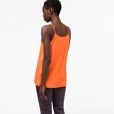 Paul Smith Women's Orange Silk-Blend Camisole Top