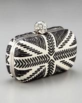 Alexander McQueen Skull-Clasp Britannia Box Clutch