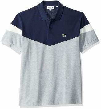 Lacoste Men's Short Sleeve Classic Fit Pique Colorblock Polo