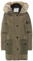 Woolrich Logo Parka down coat