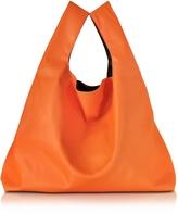 MM6 Maison Martin Margiela Pumpkin Orange Eco Leather Tote