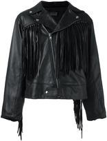 Aries fringed biker jacket