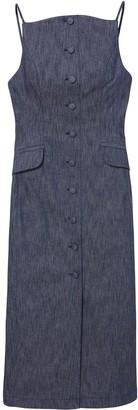 Carolina Herrera Front-Button Mid-Length Dress