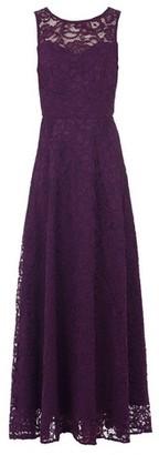 Dorothy Perkins Womens Jolie Moi Dark Purple Lace Maxi Dress, Purple