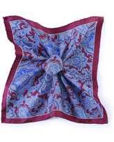 Jules B Paisley Silk Pocket Square