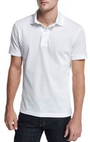 Tom Ford Short-Sleeve Pique Polo Shirt, White
